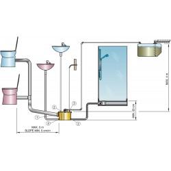 Vermaler-pomp voor grijswater en voor zwartwater