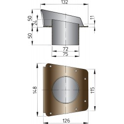 Luchtschelp type scirocco (incl.onderplaat)
