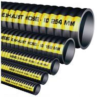 Mtr uitlaatslang rubber, D 76mm