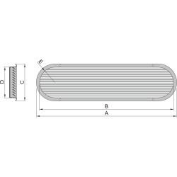 Luchtaanzuigpoort type 100 rvs (excl. doradebox)