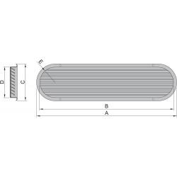 Luchtaanzuigpoort type 150 rvs louvre(excl.doradebox)