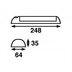 BÕtsystem Soft LED, wit, 12V-0,9W