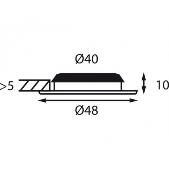 BÃ¥tsystem Vega 48 LED helder, 12V-0,4W, IP66