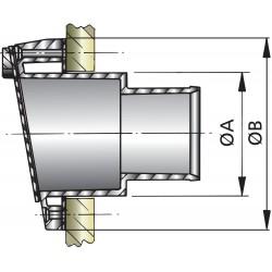 Uitlaatspiegeldoorvoer D 40mm kunststof met klep