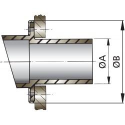 Uitlaatspiegeldoorvoer D 45mm rubber