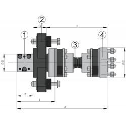 Vetus drive type 2 As 35, homokineet 15, 4''