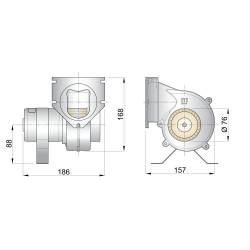 Afzuigventilator 12V 76mm rond