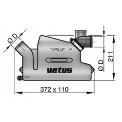 Waterlock kunststof LP40 draaibaar