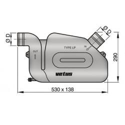 Waterlock kunststof LP90