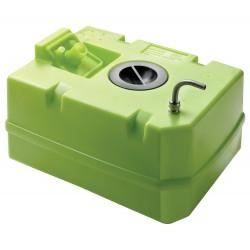 Drinkwatertank, 60L incl aansl en insp deksel