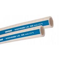 Vuilwaterslang- m. 19x25,1mm, stalen inlage, wit