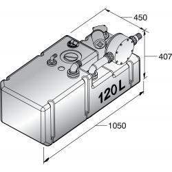 Vuilwatertanksysteem 120L 24V, incl. pomp