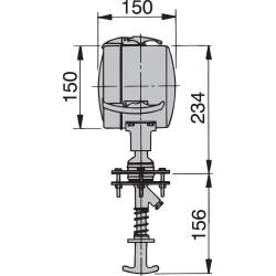 Zoeklicht 150mm 24V strhuis bed (incl sealed beam)
