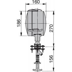 Zoeklicht 180mm 24V strhuis bed (incl sealed beam)