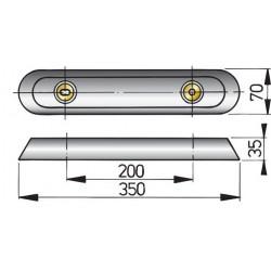 Huid anode type 35 zink excl. Aansluitset