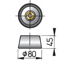 Huid-anode type 8 zink excl. Aansluitset