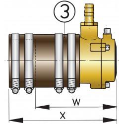 40mm zwevend binnenlager 2-voudige lipafdichting III