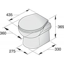 Toilet type SMTO, 24V met tuimelschakelaar