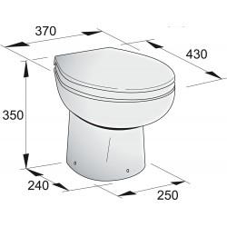 Toilet type WCP 12 Volt, tuimelschakelaar