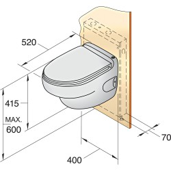Toilet type HATO, 24V
