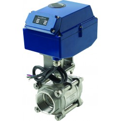 Motorized ball valve 24VDC 220Nm SS316 2''