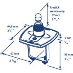 Boegschroefpaneel elektr. joystick, metaal