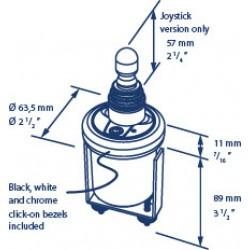 Boegschroefpaneel elektr. joystick, rond 52mm