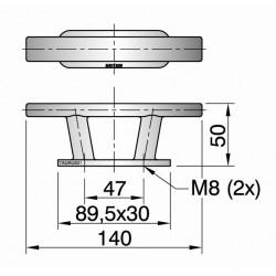 Kikker type TAURUS01 L=140mm