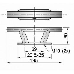 Kikker type TAURUS02 L=195mm