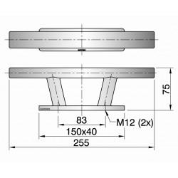 Kikker type TAURUS03 L=255mm