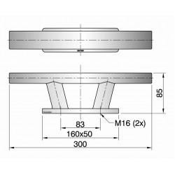 Kikker type TAURUS04 L=300mm
