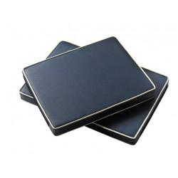 Kussen blauw-grijs vierkant 40X60X5cm