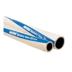 Sanitairslang 102mm x 115mm wit, geurdicht per m