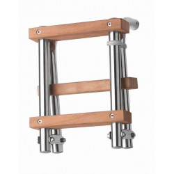 Ladder folding 3 steps SS316, teak steps