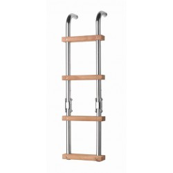 Ladder folding 4 steps SS316, teak steps