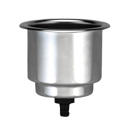 allpa RVS drankhouder, niet klapbaar, boorgat 90mm, H=110mm