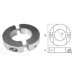 allpa Aluminium Anode voor Ï40mm-as ringvormig-dun