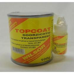 Wilsor Topcoat Transparant Set 100 gr.