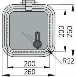 Libero vent. luik 200x200mm new lock (R=32mm)