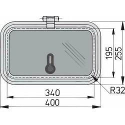 Libero vent. luik 340x190mm new lock (R=32mm)