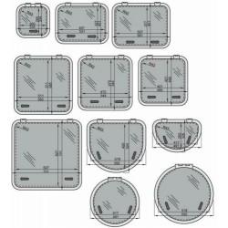 Altus dekluik 5038 Satin new lock 507x377mm