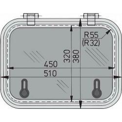 Libero dekluik 450x320mm new lock (R=32mm)