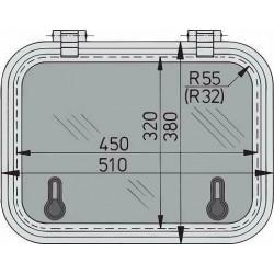 Libero dekluik 450x320mm new lock (R=55mm)