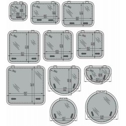 Altus dekluik 4242 Satin new lock 421x421mm