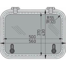 Libero dekluik 500x370mm new lock (R=32mm)