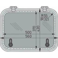 Libero dekluik 500x370mm new lock (R=55mm)