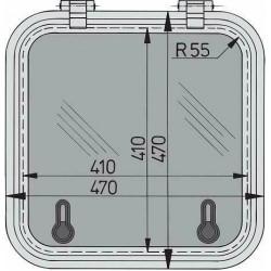 Libero vluchtluik 410x410mm new lock (R=55mm)