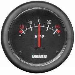 Amperemeter met losse shunt 12-24V (+-- 100 A) 52mm