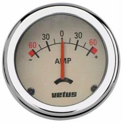 Amperemeter met losse shunt,12-24V +-- 100A 52mm
