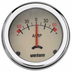 Amperemeter wit 100A (excl. shunt) 52mm